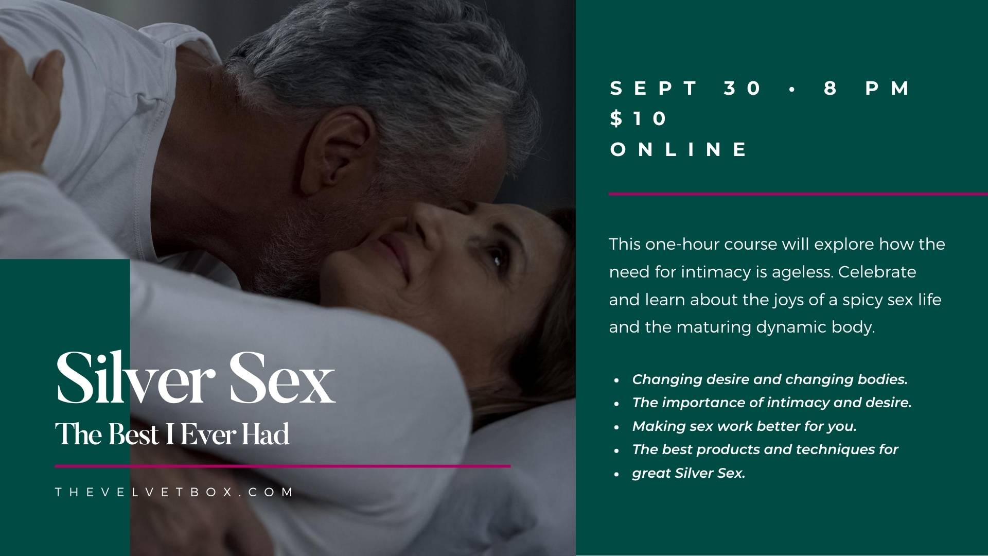 Velvet Box Sex Class for Seniors