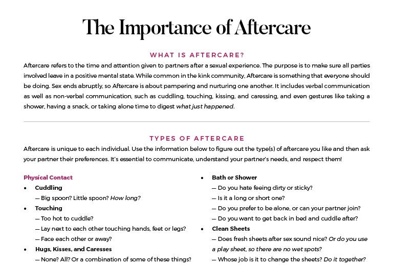 Aftercare Communication Tool